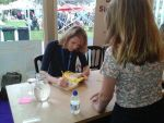 Signing at Edinburgh International Book Festival 2015